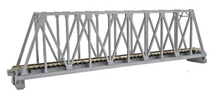 """N Scale 20-433 Kato Unitrack Single Truss 9 3/4"""" Silver Bridge"""