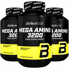 BIOTECH USA MEGA AMINO ACIDS 3200 100 Tablets - Whey Protein BCAA Muscle Builder