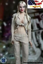 1/6 Harley Quinn head w/ prisoner clothes Suicide Squad for Phicen Hot toys❶USA❶