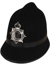 English Policeman Copper British Bobby Hat Helmet Police Fancy Dress Officer
