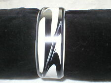 Black And White Print Cuff Bracelet One Size Fit All