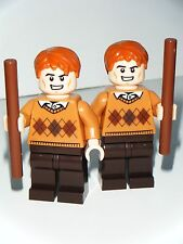LEGO HARRY POTTER CUSTOM FRED & GEORGE WEASLEY MINIFIGURES MADE OF LEGO PARTS