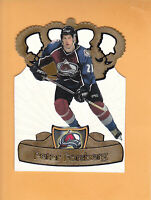 1997 98 PACIFIC PETER FORSBERG GOLD CROWN DIE CUTS #7 COLORADO AVALANCHE