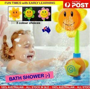 Girls Baby Bath Toy Sunflower Water Spray Baby Bath Shower Toy Best Bath Tub Boy