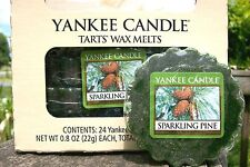 "Box Lot of 24 Yankee Candle ""SPARKLING PINE"" Fresh Scented Tarts Wax Melts"