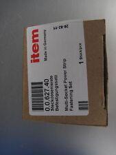 item 0.0.627.40 Steckdosenleiste Befestigungssatz Aluprofil Aluminiumprofil 4St.