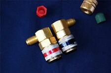 """Car AC R134a System Port Quick Snap-on Coupler Adapter/R22 1/4""""Flare to Manifold"""