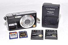 Panasonic Lumix DMC-FX7 Digital Camera Leica Lens, Batteries, Charger, SD Cards