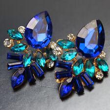 Pendientes Aretes Cristal Diamante de Imitación Brillante para Mujer Regalo