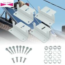 Good Solar Panel Z bracket Mounting Mount Flat Roof Wall Aluminum Set 4 pcs GA