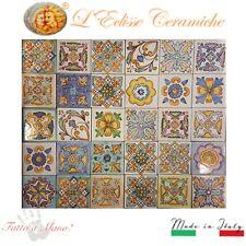 Lotto 30 Mattonella Piastrella 20x20 ceramica Vietri Patchwork 100% FATTE MANO