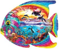 Jigsaw puzzle Animal Fish Dolphin Tropical Menagerie Freeform 1000 piece NEW