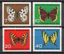Germany - 1962 Youth welfare: Butterflies Mi. 376-79 MNH