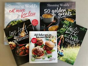 SLIMMING WORLD RECIPE BOOKS BUNDLE + FOOD OPTIMISING BOOK & LOVE LIFE BODY MAGIC