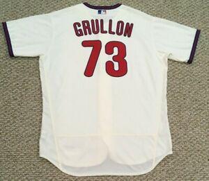 GRULLON size 50 #73 2020 PHILADELPHIA PHILLIES Cream game Jersey issued MLB