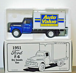 First Gear 10-0102 1951 Ford F-6 Dry Goods Van Auto Value Parts Store MIB NEW