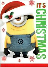 Despicable Me Minion Talking Christmas Card Kids Sound Children Funny Adults