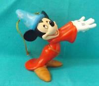 Walt Disney World Sorcerer Mickey Fantasia Figurine Christmas Holiday Ornament