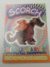 TY Beanie Babies Glow in the Dark Sticker Coloring Card SCORCH College Fund Help