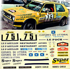 VW Golf 2 GTI 16S Rallye Monte Carlo 1988 #75 DemKin Peuplier 1:24 Decal Abziehb
