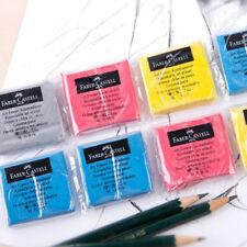 1pcs Soft Faber-Castell Drawing Rubber Eraser Pencils Graphic Sketch 4 Colors