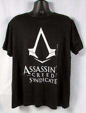ASSASSINS CREED Mens Black Syndicate Logo T- Shirt Size XL NWT