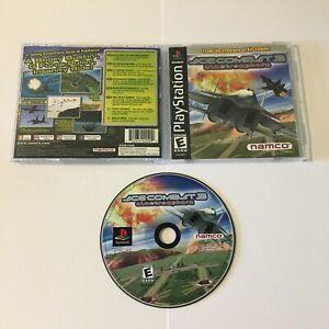 ACE Combat 3 Electrosphere (PlayStation 1, 1999) Complete Tested, Black Label