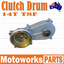 14T T8F Gear Box Clutch Drum Bell Housing 47 49cc Mini Pocket Quad Dirt Bike ATV