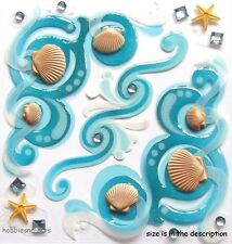 Ek Success Jolee's Boutique 3-D Gemme Autocollants coquillages étoiles de mer sea Flourishes