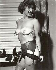 Org Vintage 40s-60s Nude RP- Older Woman- Suntanned- Stockings- Panties- Garter