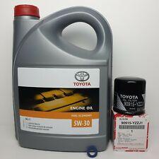 TOYOTA IQ 1.0 GENUINE 2008 - 2014 MODEL ENGINE OIL SUMP PLUG WASHER & OIL FILTER