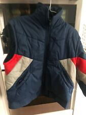 Vtg 80s Deep North Navy, Red, Grey Puffer Jacket W/ Removable Arms - Vest Xl/L