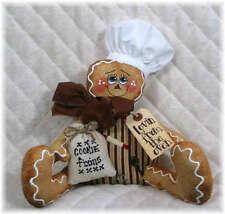 ~~Primitive Gingerbread shelf sitter w/fixins~Pattern #34~~