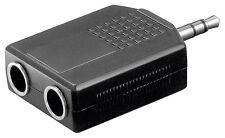 2x Y-Adapter Klinkenstecker stereo Klinke  2,8 mm 2x 6,3mm Buchse Verteiler