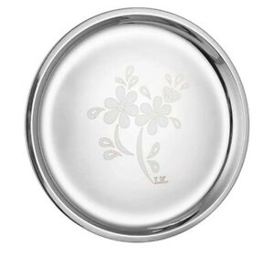 """Stainless Steel Laser Finish Full Plate 12"""" Inches Set Of 2 Pcs Rarest Free Ship"""