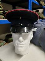 British Army Royal Logistic Corps RLC Hat Cap Black Red Peaked Dress Military UK