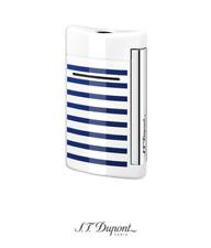 ST Dupont Minijet Torch Lighter, White with Blue Stripes