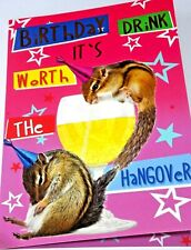 Happy Birthday Card. Hangover Theme. Party Animal Range from Heartstring Cards.