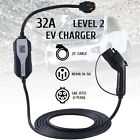 5X FASTER Level 2 EV Charger 240V NEMA14-50 32A EVSE Electric Car Charging Cable