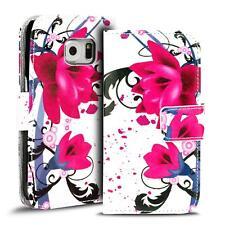 Handy Tasche Samsung Galaxy S6 Flip Cover Case Schutz Hülle Etui Motiv Wallet