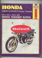 Honda CB250N CB400N Superdream's (1978-1984) Haynes Manual Book CB 250 400 DF63