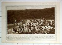 1915 WWI WW1 PRINT HOW ITALIANS MOUNT SIEGE-ARTILLERY AGAINST AUSTRIAN FOREST