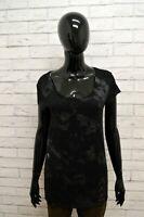 Maglia Maglietta Donna GUESS Taglia S Shirt Woman Polo Manica Corta Cotone Nero