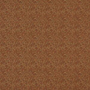 Burgundy And Gold Shell Upholstery Fabric By The Yard Pattern # A429
