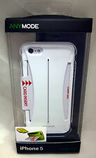 Anymode Hard Pocket Suit Wallet Case Polycarbonate iPhone 5/5S/SE White NEW