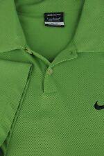 Nike Dri-Fit Hombre Césped Verde Dobby Poliéster Camisa Polo Golf L GRANDE
