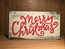rustic wood holiday sign merry christmas handmade home decor farmhouse style - Christmas Decor Signs