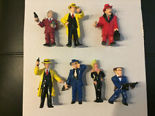 1990 Dick Tracy Flattop Pruneface Breathless Big Boy Pvc Applause Complete 7 Set