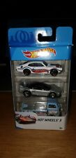 HOT WHEELS 2018 3 PACK VOLKSWAGEN VW T2 PICKUP HONDA NSX & 71' MAVERICK GRABBER