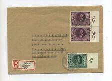 1943 3.Reich portogerechter R-Brief Hitler Geburtstag Mi 845, 848 (2x)